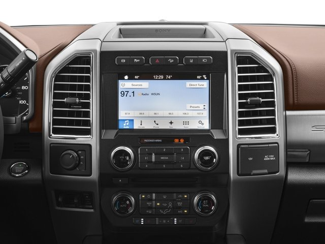 2017 Ford Super Duty F-450 DRW Prices and Values Crew Cab Platinum 4WD T-Diesel stereo system