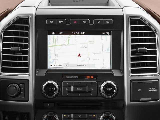 2017 Ford Super Duty F-450 DRW Prices and Values Crew Cab Platinum 4WD T-Diesel navigation system