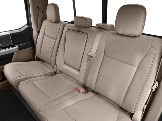 2017 Ford Super Duty F-450 DRW Prices and Values Crew Cab Lariat 4WD T-Diesel backseat interior