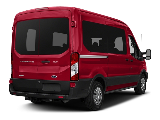 2017 Ford Transit Wagon Prices and Values Passenger Van XLT Medium Roof side rear view
