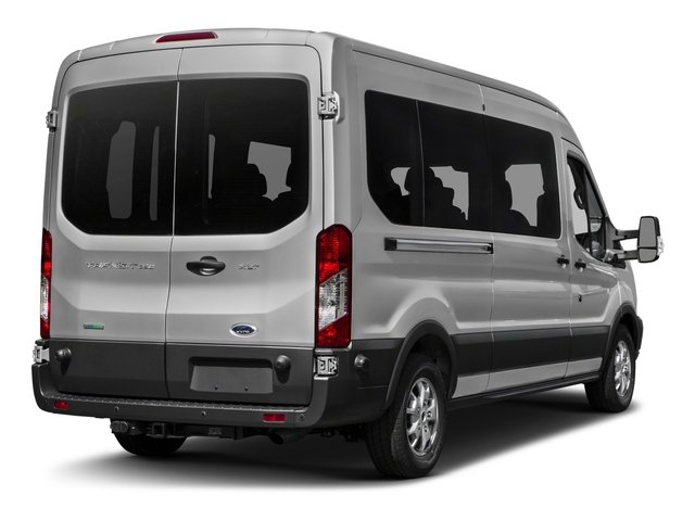 2017 Ford Transit Wagon Prices and Values Passenger Van XL Medium Roof side rear view