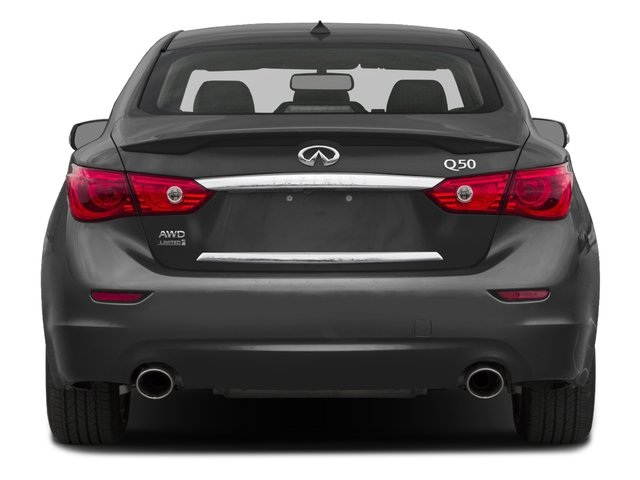 2017 INFINITI Q50 Prices and Values Sedan 4D 3.0T Premium AWD V6 Turbo rear view