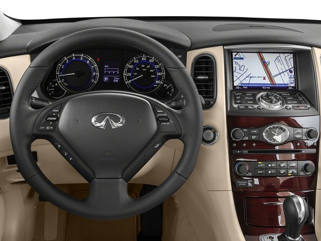 2017 INFINITI QX50 Base Price AWD Pricing driver's dashboard