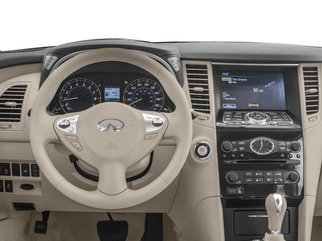 2017 INFINITI QX70 Base Price RWD Pricing driver's dashboard