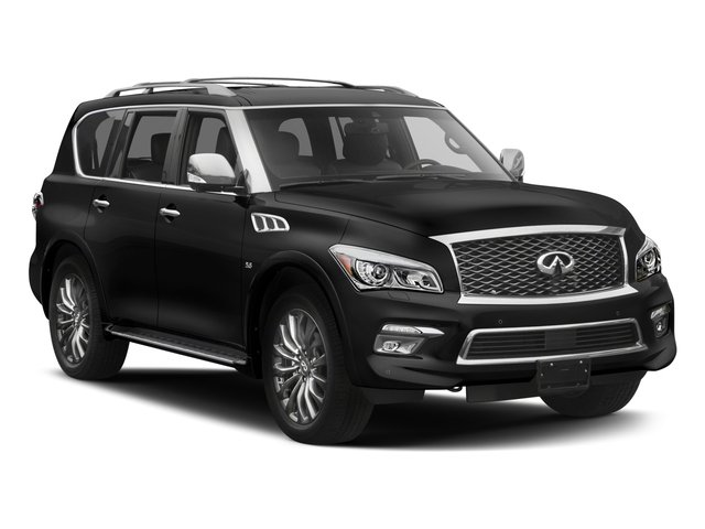 2017 INFINITI QX80 Pictures QX80 Utility 4D Limited AWD V8 photos side front view