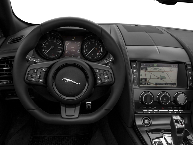 2017 Jaguar F-TYPE Prices and Values Convertible 2D S AWD V6 driver's dashboard