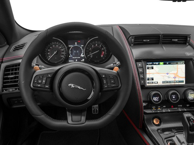 2017 Jaguar F-TYPE Prices and Values Coupe 2D S British Design Edit AWD driver's dashboard