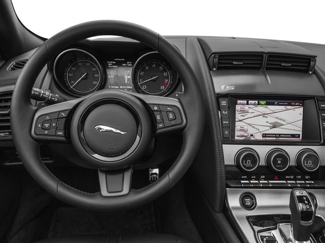 2017 Jaguar F-TYPE Base Price Convertible Manual Premium Pricing driver's dashboard