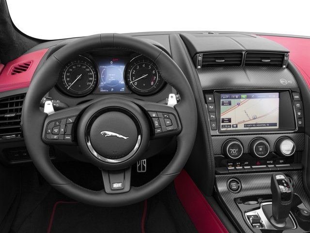 2017 Jaguar F-TYPE Prices and Values Convertible 2D SVR AWD V8 driver's dashboard