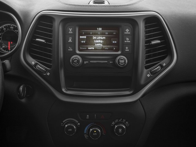 2017 Jeep Cherokee Pictures Cherokee Sport 4x4 photos stereo system