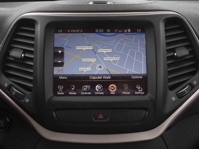 2017 Jeep Cherokee Prices and Values Utility 4D High Altitude 4WD navigation system