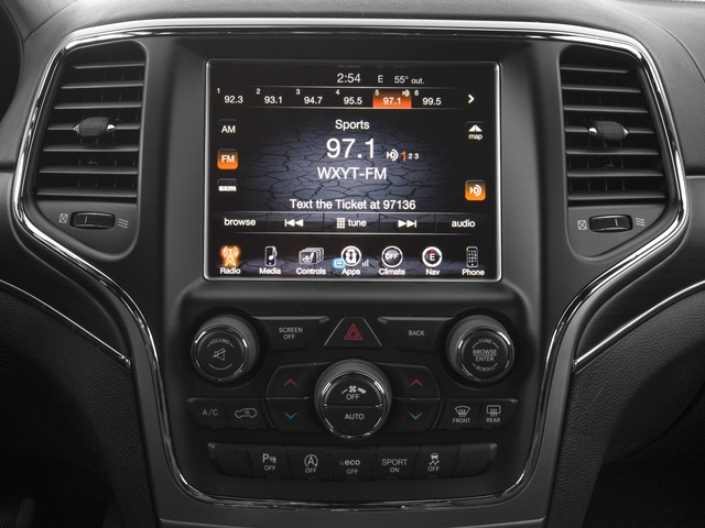 2017 Jeep Grand Cherokee Base Price Overland 4x2 Pricing stereo system