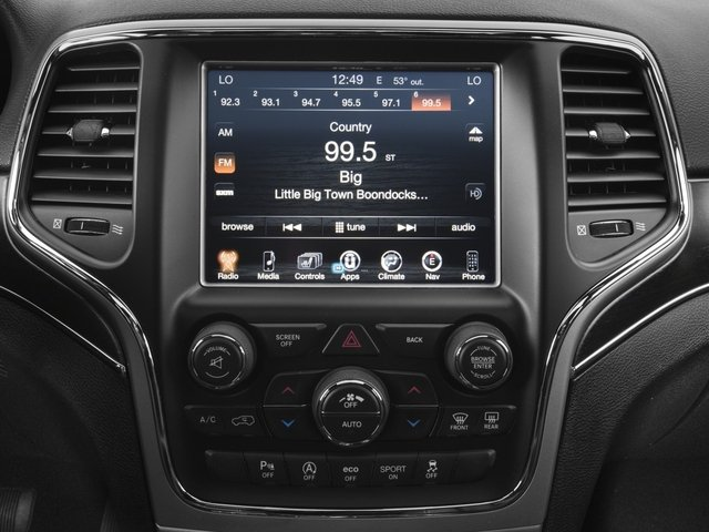 2017 Jeep Grand Cherokee Prices and Values Utility 4D Limited 4WD stereo system