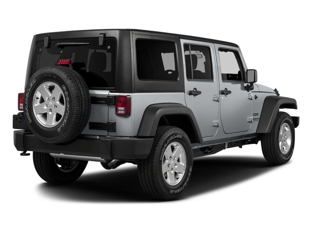 2017 Jeep Wrangler Unlimited Prices and Values Utility 4D Unlimited Sport 4WD V6 side rear view