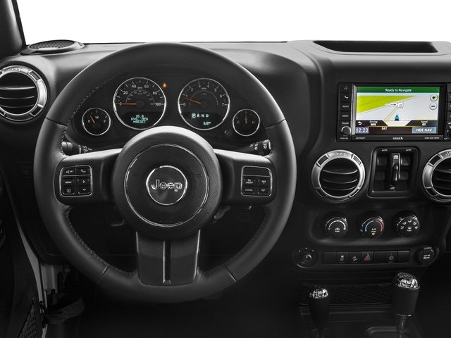 2017 Jeep Wrangler Unlimited Prices and Values Utility 4D Unlimited Rubicon 4WD V6 driver's dashboard