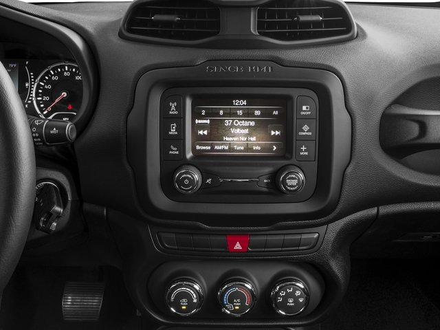 2017 Jeep Renegade Prices and Values Utility 4D Altitude 2WD stereo system