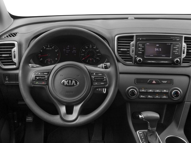2017 Kia Sportage Base Price LX FWD Pricing driver's dashboard