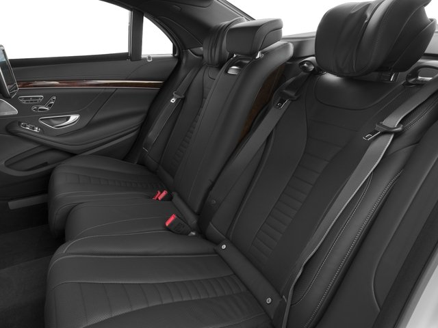 2017 Mercedes-Benz S-Class Prices and Values Sedan 4D S550 V8 Turbo backseat interior