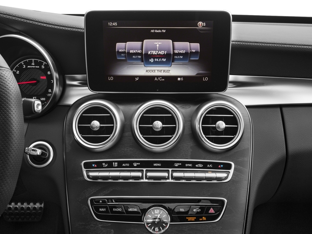 2017 Mercedes-Benz C-Class Base Price AMG C 63 Sedan Pricing stereo system