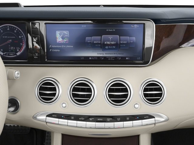 2017 Mercedes-Benz S-Class Pictures S-Class AMG S 63 4MATIC Cabriolet photos stereo system