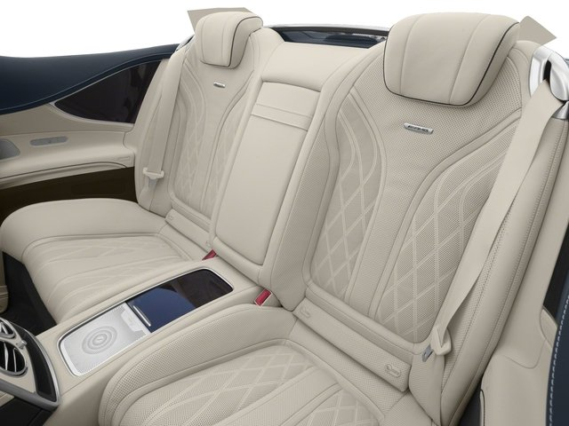 2017 Mercedes-Benz S-Class Pictures S-Class AMG S 63 4MATIC Cabriolet photos backseat interior