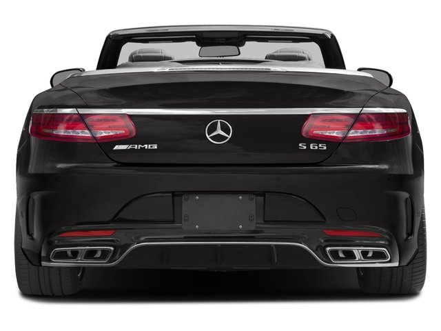 2017 Mercedes-Benz S-Class Base Price AMG S 65 Cabriolet Pricing rear view