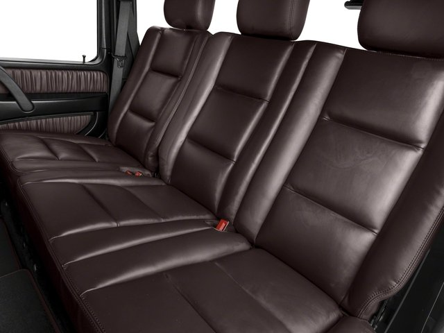 2017 Mercedes-Benz G-Class Base Price AMG G 63 4MATIC SUV Pricing backseat interior
