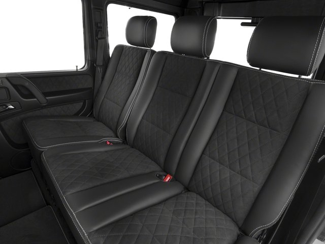 2017 Mercedes-Benz G-Class Base Price G 550 4x4 Squared SUV Pricing backseat interior