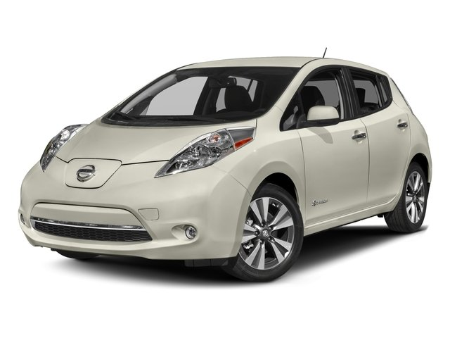 2017 Nissan LEAF Base Price SV Hatchback Pricing side front view