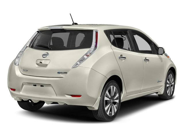2017 Nissan LEAF Pictures LEAF SV Hatchback photos side rear view
