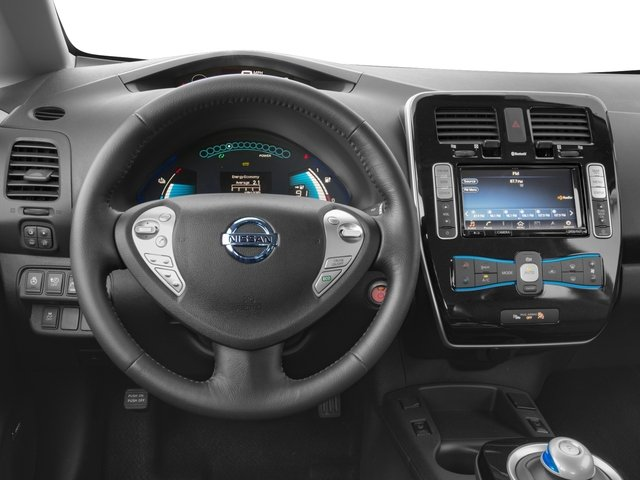 2017 Nissan LEAF Pictures LEAF SV Hatchback photos driver's dashboard