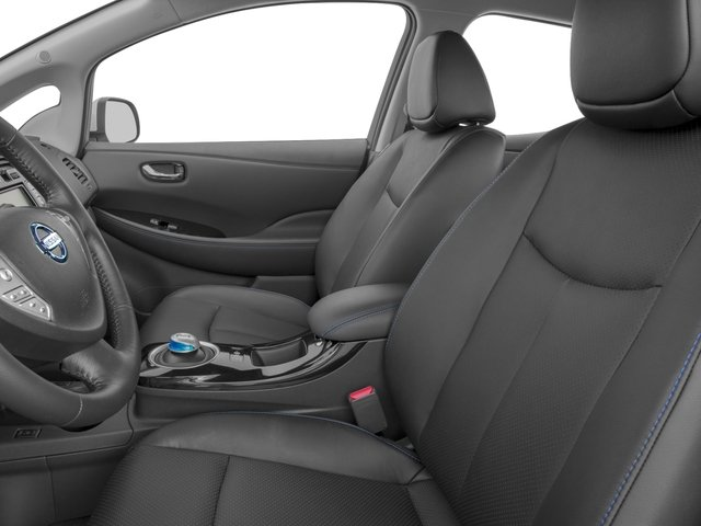 2017 Nissan LEAF Base Price SV Hatchback Pricing front seat interior