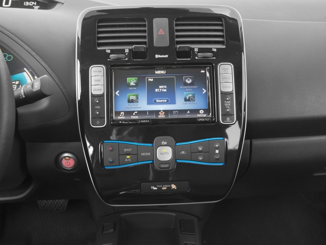 2017 Nissan LEAF Base Price SV Hatchback Pricing stereo system