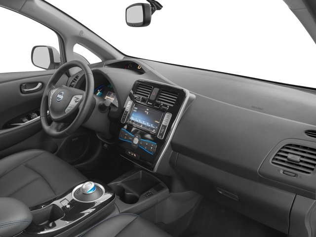 2017 Nissan LEAF Base Price SV Hatchback Pricing passenger's dashboard