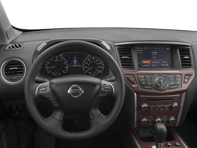 2017 Nissan Pathfinder Prices and Values Utility 4D Platinum 2WD V6 driver's dashboard