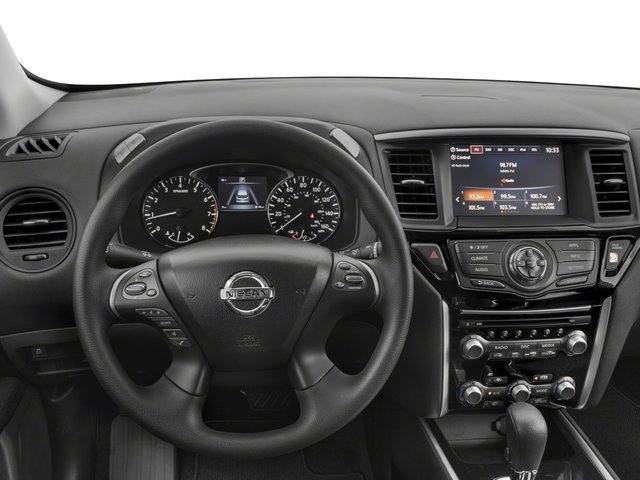 2017 Nissan Pathfinder Prices and Values Utility 4D S 2WD V6 driver's dashboard