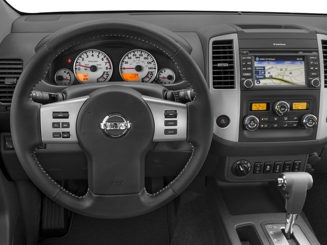 2017 Nissan Frontier Prices and Values Crew Cab PRO-4X 4WD driver's dashboard