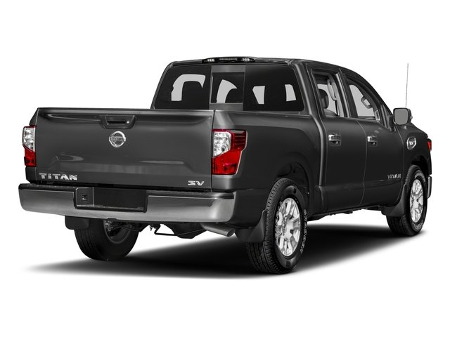 2017 Nissan Titan Prices and Values Crew Cab SV 2WD side rear view