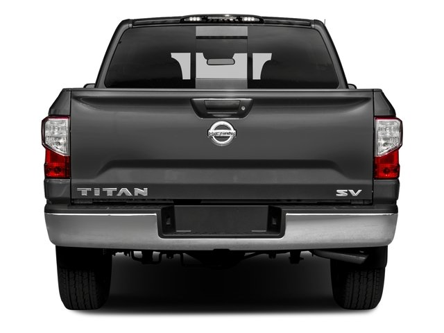 2017 Nissan Titan Prices and Values Crew Cab SV 2WD rear view