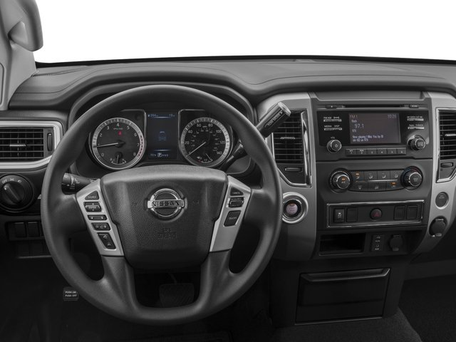 2017 Nissan Titan Prices and Values Crew Cab SV 2WD driver's dashboard