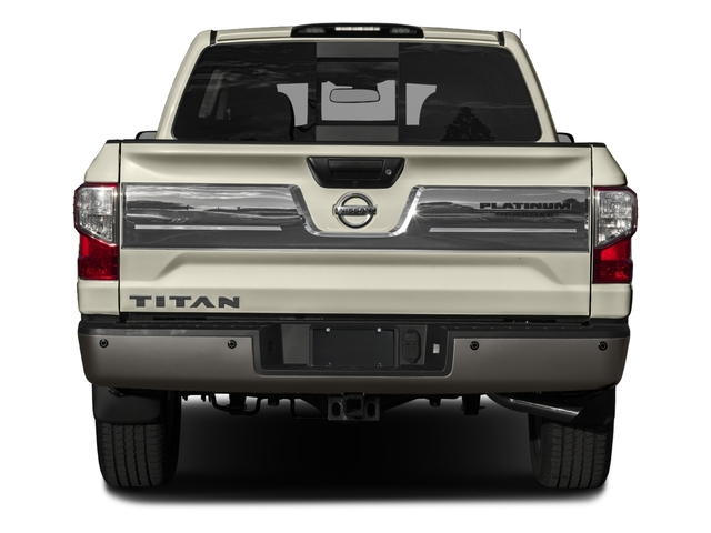2017 Nissan Titan Prices and Values Crew Cab Platinum Reserve 2WD rear view