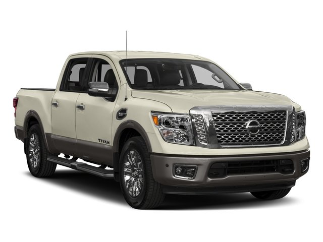 2017 Nissan Titan Prices and Values Crew Cab Platinum Reserve 2WD side front view