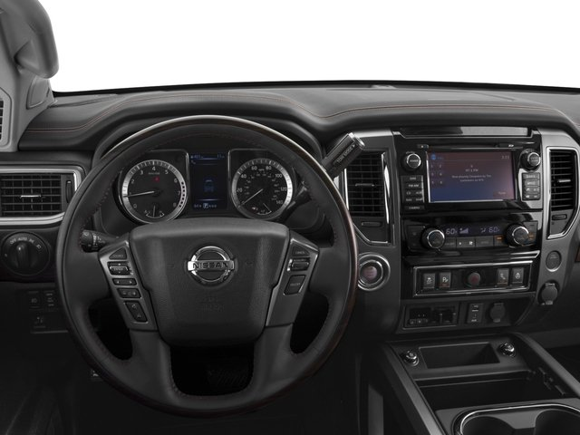 2017 Nissan Titan Prices and Values Crew Cab Platinum Reserve 2WD driver's dashboard