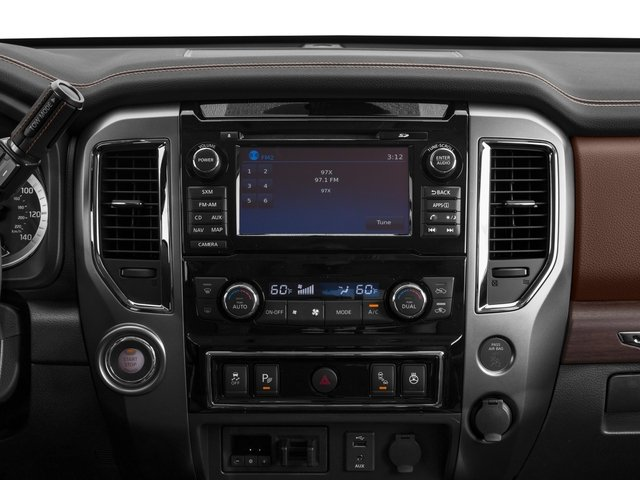 2017 Nissan Titan Prices and Values Crew Cab Platinum Reserve 2WD stereo system