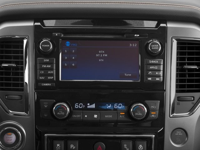 2017 Nissan Titan Prices and Values Crew Cab Platinum Reserve 2WD navigation system