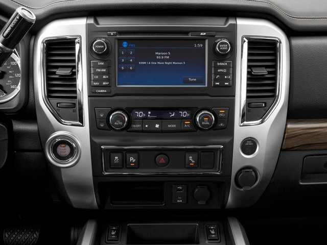 2017 Nissan Titan Prices and Values Crew Cab SL 4WD stereo system