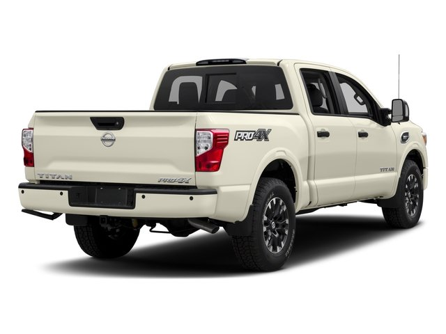 2017 Nissan Titan Prices and Values Crew Cab PRO-4X 4WD side rear view
