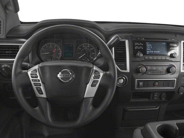 2017 Nissan Titan Prices and Values King Cab S 2WD driver's dashboard