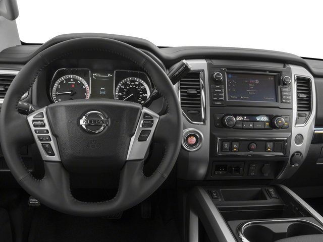 2017 Nissan Titan Prices and Values King Cab SV 2WD driver's dashboard