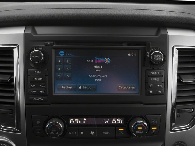 2017 Nissan Titan Prices and Values King Cab SV 2WD stereo system